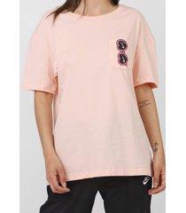 camiseta nike sportswear w nsw tee summer fu rosa - kanui