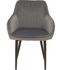 krzesło turin aksamit szary velvet