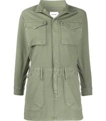 frame fitted cargo dress - green