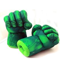 the hulk smash hands fists big soft plush gloves pair costume green [toy]