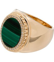 o thongthai 14k yellow gold malachite ring