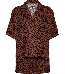 pyjama short pyjamas brun pj salvage