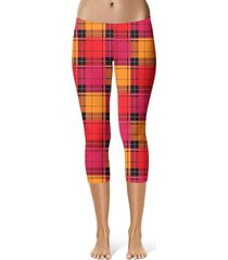 tartan love sport capri leggings