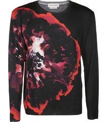 alexander mcqueen black wool sweatshirt