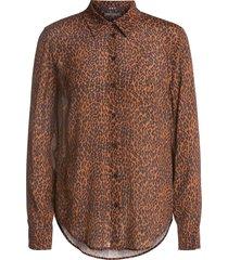 blouse met luipaardprint tigra  bruin