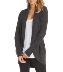 women's barefoot dreams cozychic(tm) lite circle cardigan, size large/x-large - black
