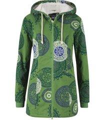 parka in cotone fantasia con cappuccio (verde) - bpc bonprix collection