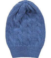 little bear azure babyboy hat with cable knit