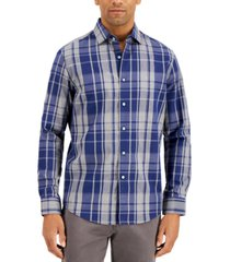 tasso elba men's dot plaid dobby shirt, created for macy's