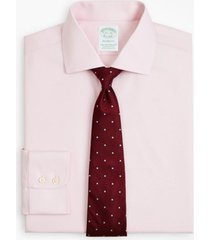 camisa milano fit non-iron twill rosado brooks brothers