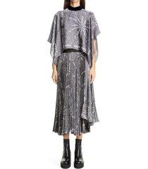 women's sacai dr. woo bandana print popover midi dress