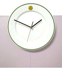 zegar bar mleczny zielono-żółty