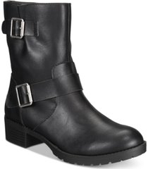 style & co gianara moto booties, created for macy's women's shoes