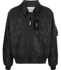 1017 alyx 9sm satin bomber jacket - black
