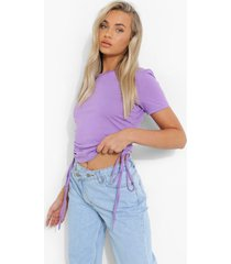 geplooid jersey t-shirt, lilac