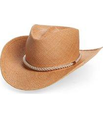women's gladys tamez zuma straw cowboy hat - beige