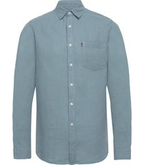 ryan linen shirt overhemd casual blauw lexington clothing