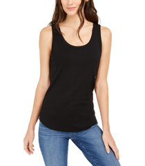 charter club supima cotton scoop-neck tank top, created for macy's