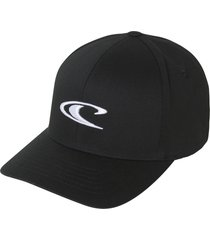 o'neill clean mean logo baseball cap, size small in black w/white at nordstrom