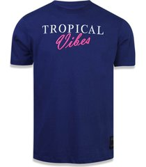 t-shirt new era basico m/c amir slama marinho - azul marinho - masculino - dafiti