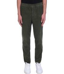 golden goose amos pants in green velvet