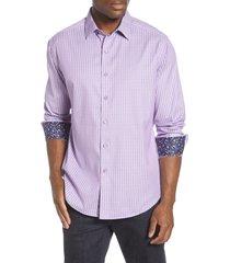 men's robert graham ventura regular fit button-up sport shirt, size x-large - pink