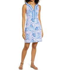women's lilly pulitzer santanita shift dress, size x-small - purple