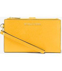 mk portafoglio da polso jetset grande per smartphone - agrumi (giallo) - michael kors