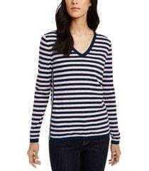 tommy hilfiger cotton striped ivy sweater