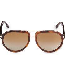 tom ford women's 58mm pilot sunglasses - havana