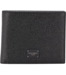 dolce & gabbana textured wallet - black