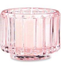 porta velas vidro rosa mart 6,5 x 8,5 cm