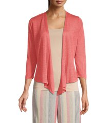 nic+zoe women's 4-way linen-blend cardigan - sedona - size xl
