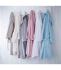 super weiches fleece bademantel morgenmantel mit einheitsgröße 6 farben