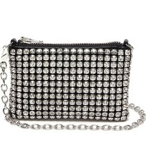 'wingloc' rhinestone top handle pouch