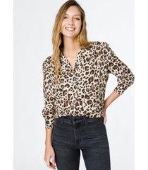 camisa animal print wanama jaclyn