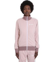 palm angels sweatshirt in rose-pink polyester