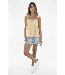 camisa para mujer tennis, estampado y de tiras