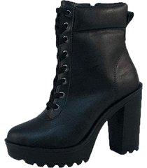 bota coturno salto alto  calçados  preto com ziper