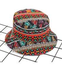 cappello da pescatore in tela stampa fantsia