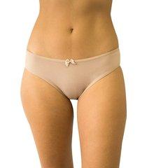 calcinha tanga leila qtal lingerie básico bege