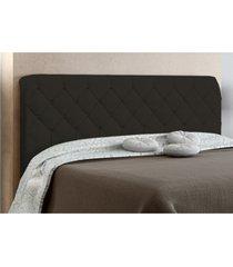cabeceira box casal paris 140cm chocolate suede amassado - js móveis
