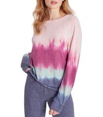 women's wildfox raglan sweatshirt, size small - pink