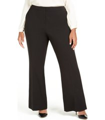 calvin klein plus size slit wide-leg pants
