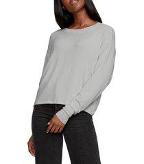 women's michael stars chloe pullover, size large - grey