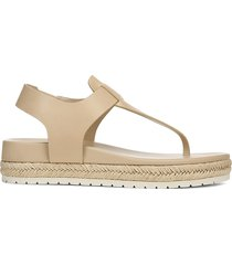 vince women's flint-b leather thong sandals - cappuccino - size 9.5