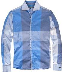 cast iron slim fit overhemd lange mouwen