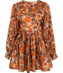 arnette dress, floral rust