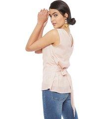 blusa vero moda andrea rosa - calce ajustado