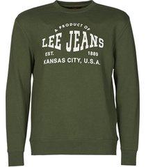sweater lee logo crew sws winter green